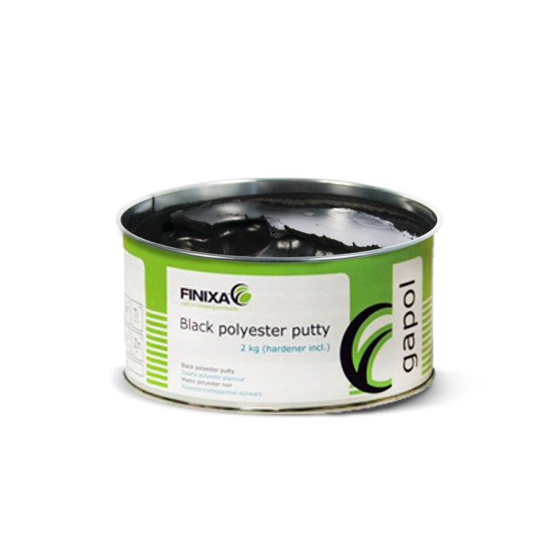 "STUCCO IN POLIESTERE FINIXA GAP00 ""UNIVERSALE"" - black polyester putty"
